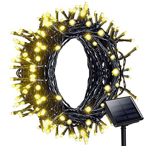 Pannello Solare Per Luci Natale : Vanksy catena di luce a led colorati con pannello solare