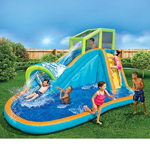 Inflatable Water Slide Az: 14 Ft Long Banzai Aqua Pipeline Water Park Slide Backyard