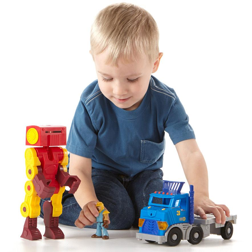 Imaginext city big rig and robot toys games Fine motor development toys