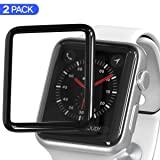 3D Screen Protector Compatible with Apple Watch (38mm Series iWacth 3 / 2/1 Compatible), HD Anti-Bubble Scratch-Resistant Guard Cover 3D Tempered Glass Protective Film Screen Protector 38mm [2 Pack] (Color: 38mm)