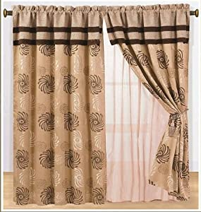 amazon com high quality jacquard windows curtains
