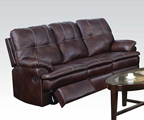 Zamora Sofa with Motion in Brown Finish by Acme Furniture
