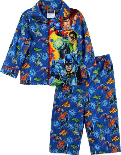"""Justice League """"Boom Whap"""" Toddler Blue Pajama 3T"""