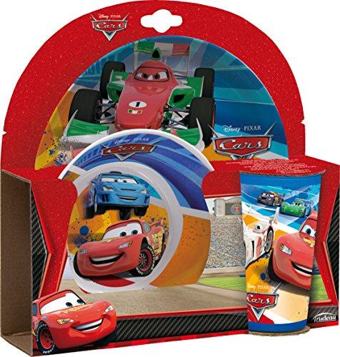 Trudeau 2684415 Coffret 3 Pièces en Mélamine Cars Mélamine/Plastique 23,5 x 5,5 x 23 cm