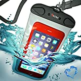 WATERPROOF CASE by KONA® Best Universal Waterproof Case, 100ft Depth Phone Pouch Fits Apple iPHONE 6,5S,5C,5,4 Samsung S6,S5,etc FREE 5YR REPLACEMENT!