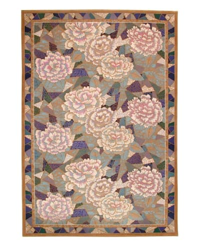 Roubini Mosaic Garden Hand Knotted Wool Rug, Multi, 6′ x 9′