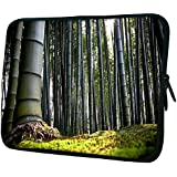 "Snoogg Bamboo Tree 15"" 15.5"" 15.6"" Inch Laptop Notebook Slipcase Sleeve Soft Case Carrying Case For Macbook Pro Acer Asus Dell Hp Sony Toshiba"