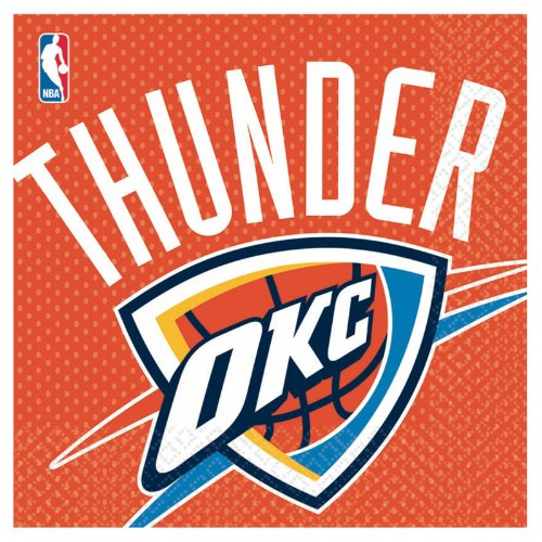Amscan Oklahoma City Thunder Basketball - Lunch Napkins (16)