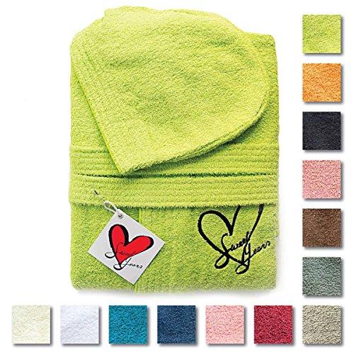 Accappatoio unisex Sweet Years Dobby in spugna di cotone con logo ricamato L947