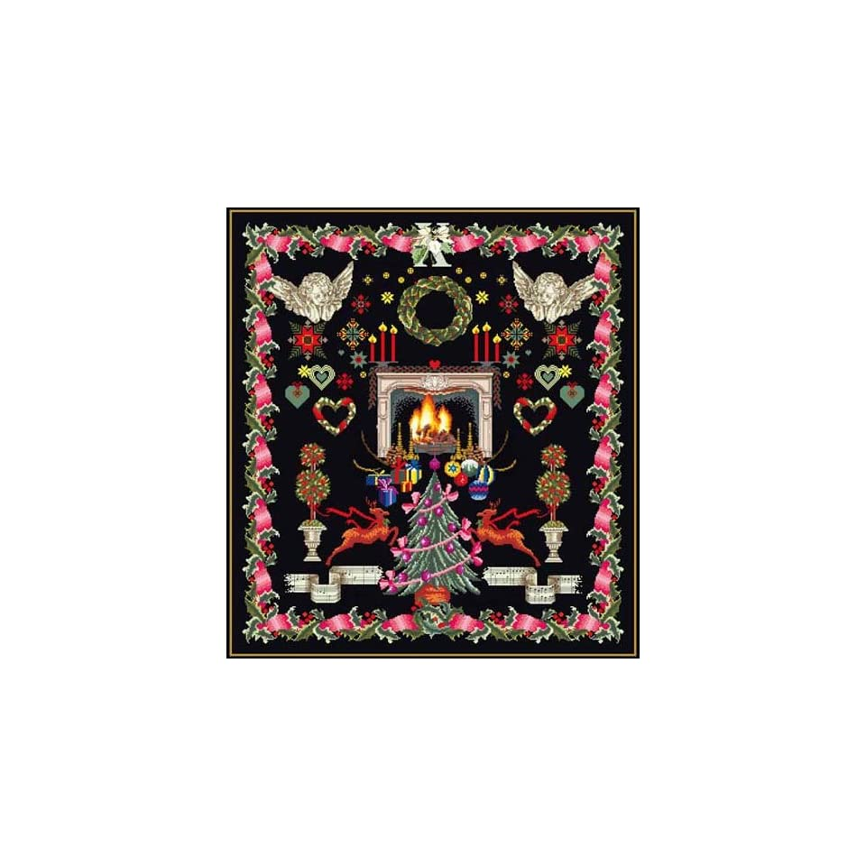 Thea Gouverneur Christmas Sampler Black Collection Counted Cross Stitch Kit