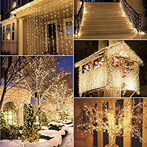 [Remote & Timer] 40 LED Outdoor Fairy Lights - 8 Modes Battery Operated String Lights (120 Hours of Lighting, IP68 Waterproof, Warm White)