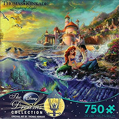 Ceaco Thomas Kinkade The Disney Dreams Collection The Little Mermaid Jigsaw Puzzle by Ceaco