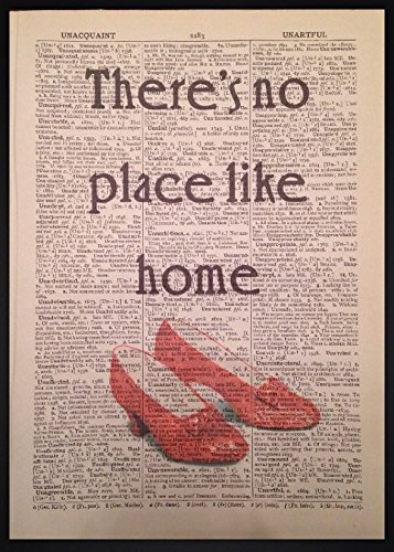 wizard-of-oz-no-place-like-home-quote-vintage-dictionary-page-print-wall-art