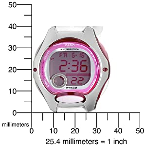 Casio Women's LW200-7AV Digital White Resin Strap Watch