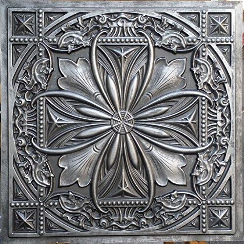 PL10 imitation boîte 3D finition Étain antique relief Café pub shop Dalles 10pieces Panneaux muraux de décoration/lot