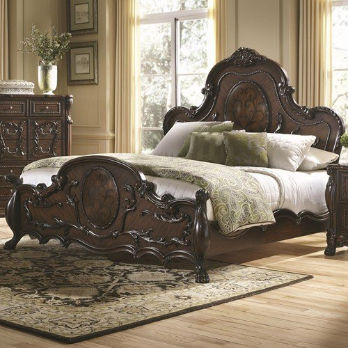 Abigail King Bed With Lion Claws By Coaster Furniture front-976389