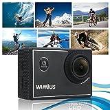 WIMIUS S2 Wifi 1080P 60fps ウェアラブルカメラ 防水 多機能ビデオカメラ
