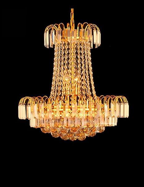 Un conjunto de araña --- Oro ronda de cristal araña mesa de comedor estudio dormitorio sala de estar araña (No incluir la fuente de luz)