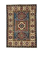 L'EDEN DEL TAPPETO Alfombra Uzebekistan Super Azul/Multicolor 64 x 92 cm