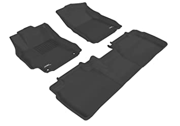 Black L1TY08601509 3D MAXpider Complete Set Custom Fit All-Weather Floor Mat for Select Toyota Camry Models Kagu Rubber