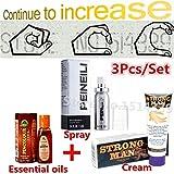 3Pcs/Set XXL Herbal enlarge penis extender cream gel & Indian sex oil for mens penis enhancers & New PEINEILI male delay spray