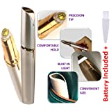 Best Painless Electric Eyebrow Hair Remover Mini Eyebrow Trimmer tool for Perfect Eyebrows. Hair Remover for No Flaw Eyebrow, Face, Lips, Nose, hair Facial Hair - Battery included