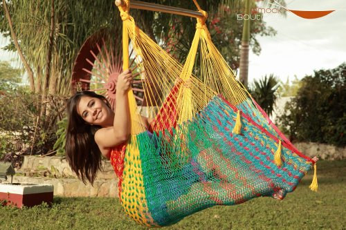 Extra Large Mayan Chair Hammock XXL -MULTICOLOR - Save Today Spring SALE! FREE hanging ropes + pay standard shipping and get expedite FREE with any hammock purchase!