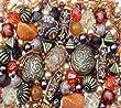 Approx 400 x Arabian Nights Ethnic orange brown Jewellery Making Starter Beads Mix Set