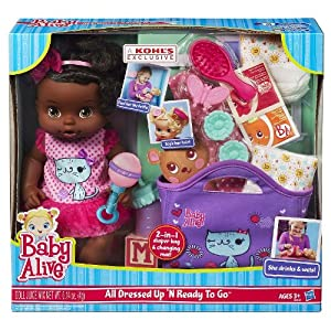 Baby Alive All Dressed Up N' Ready To Go Doll - African American