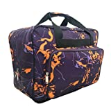 Sewing Machine Carrying Case Tote Bag,Padded Storage Cover Carrying Case with Pockets and Handles ,Canvas ,Universal Sewing Machine Bag with Pockets (Dark Purple) (Color: Dark purple)