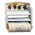 Grape 3 Roll Wrap Center Rack Paper Towel Foil Saran