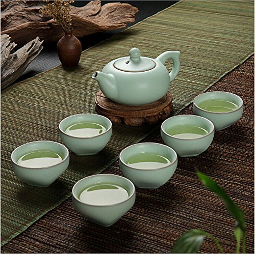Eternal Chinese Ceramic Kung Fu Tea Set,Ice Crack Tea Pots with Cups (Ice Crack Royal) (Japanese Tea Service Set compare prices)