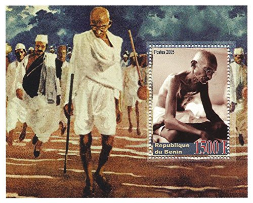mahatma gandhi stempel indischen nationalistischen symbol briefmarkenbogen f r sammler 2005. Black Bedroom Furniture Sets. Home Design Ideas