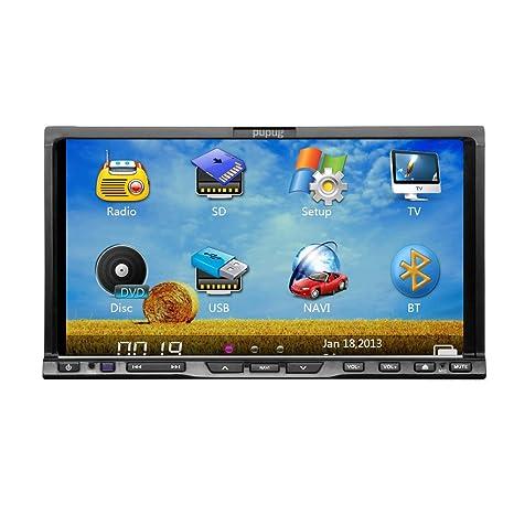2 DIN 7 pouces voiture šŠcran de navigation GPS Lecteur de DVD tactile Bluetooth stšŠršŠo iPod Video Radio TV Headunit En Dash auto