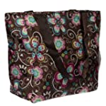 Print Shopper Beach Tote Bag (Brown F...