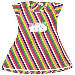 Rush Me Baby Girls' Dress (S.R.1009_3 Years, 3 Years, Multi )