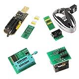 Organizer SOIC8 SOP8 Test Clip For EEPROM 93CXX / 25CXX / 24CXX + CH341A 24 25 Series EEPROM Flash BIOS USB +1.8V Adapter + Soic8 Adapter Programmer Module Kit