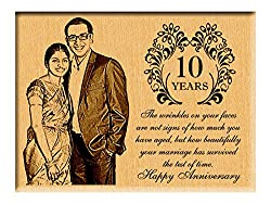 Best Wedding Anniversary Gifts ideas - Personalized Wooden Plaque (8x6)