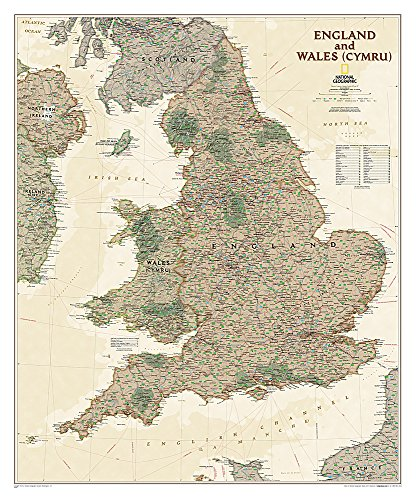 England and Wales Executive [Laminated] (National Geographic Reference Map)