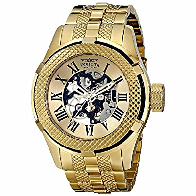 Invicta Men's 17180 Bolt Analog Display Mechanical Hand Wind Gold Watch