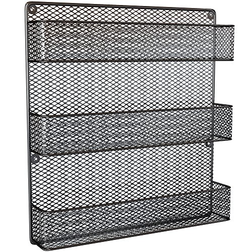 Spice Rack Country Rustic Wire Style Wall Mounted 3 Tier Shelf (Chicken Wall Shelf compare prices)