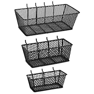 Click to read our review of Garage Pegboard: The Bulldog Hardware 131595 Mesh Basket-Value Pack