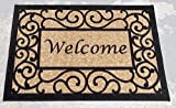 Ottohome Collection Rectangular Welcome Doormat Beige 20