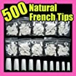 500 White False French Nail Art Tips Uv Acrylic 064