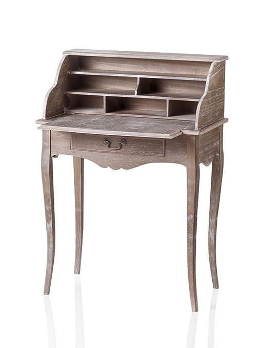 Scrittoio con Piano Estraibile Provence in Legno 70X41X99 cm Variante unica