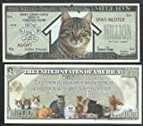 CAT Rescue Million Dollar Novelty Bill W Gandhi Quote - Lot of 25 Bills