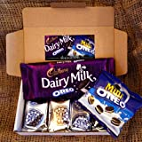 Oreo Lovers Treat Box - Cadbury Dairy Milk Oreo Bar, Mini Oreo Pack, Oreo Original and Chocolate Crème Biscuits - By Moreton Gifts