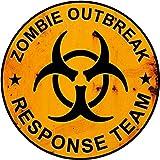 4x 4Aufkleber Zombie Outbreak Ersatzrad-Abdeckung (