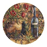 Thirstystone Drink Coaster Set, Wine and Poppies