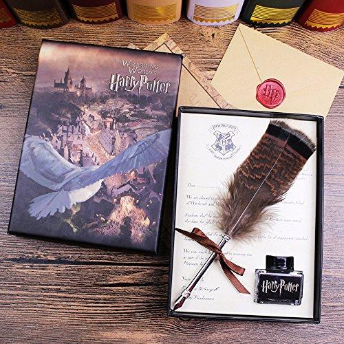 ECVISION Antique Dip Feather Pen Set Calligraphy Pen Set Writing Quill Ink Dip Pen 0